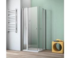 maw by GEO Eckdusche A-E200, ebenerdiger Einbau möglich silberfarben Bodenablauf Duschkabinen Duschen Bad Sanitär