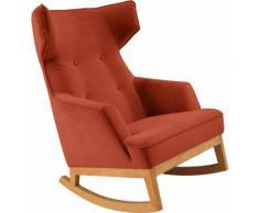 TOM TAILOR Schaukelstuhl COZY, im Retrolook, mit Kedernaht und Knöpfung, Füße Eiche natur orange Weitere Sessel Wohnzimmer