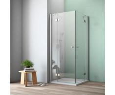 maw by GEO Eckdusche A-E300, ebenerdiger Einbau möglich silberfarben Bodenablauf Duschkabinen Duschen Bad Sanitär