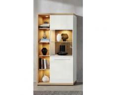 trendteam Wohnzimmer-Set Odino, weiß, Asteiche/Weiß Hochglanz