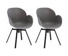 GALLERY M Schalenstuhl Tonio grau 4-Fuß-Stühle Stühle Sitzbänke