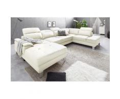 exxpo - sofa fashion Wohnlandschaft, weiß, altweiß