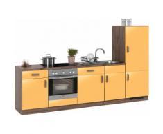 wiho Küchen Küchenzeile Tacoma, orange, mangofarben Glanz