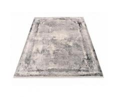 machalke Teppich frame, rechteckig, 8 mm Höhe, Design Teppich, Wohnzimmer grau Schlafzimmerteppiche Teppiche nach Räumen