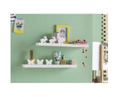 Lüttenhütt Wandregal Schmetterling + Hase (2er--Set) weiß Wandboards Wandkonsolen Regale Kleinmöbel