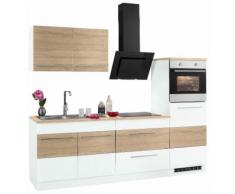 HELD MÖBEL Küchenzeile Trient, mit E-Geräten, Breite 240 cm EEK B braun Küchenzeilen Geräten -blöcke Küchenmöbel Arbeitsmöbel-Sets