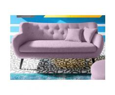 INOSIGN 3-Sitzer im Retro-Style, rosa, Neutral, Struktur fein