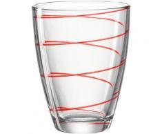 montana-Glas Glas jolly (6-tlg.) rot Wassergläser Saftgläser Gläser Glaswaren Haushaltswaren Trinkgefäße