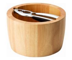Continenta Snackschale Holz, (Set 2-tlg.) beige Schalen Geschirr, Porzellan Tischaccessoires Haushaltswaren Schüsseln