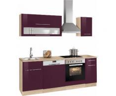 HELD MÖBEL Küchenzeile Eton, ohne E-Geräte, Breite 210 cm lila Küchenzeilen Geräte -blöcke Küchenmöbel