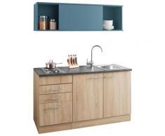 OPTIFIT Küchenzeile Mini, mit E-Geräten, Breite 150 cm blau Singleküchen Küchenzeilen -blöcke Küchenmöbel Arbeitsmöbel-Sets