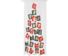 my home Gardine Adventskalender, HxB:230x140 cm, mit 12 Adventstäschchen und Ringen weiß Wohnzimmergardinen Gardinen nach Räumen Vorhänge