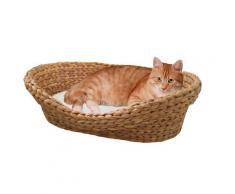 SILVIO design Tierkorb Wasserhyazinthe braun Katzenkörbe -kissen Katze Tierbedarf