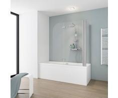Schulte Badewannenaufsatz Komfort, BxH: 114,6 x 140 cm silberfarben Duschwände Duschen Bad Sanitär
