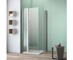 maw by GEO Eckdusche A-E210, ebenerdiger Einbau möglich silberfarben Bodenablauf Duschkabinen Duschen Bad Sanitär