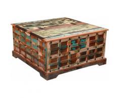 Ploß Couchtisch Jaipur, aus recyceltem Altholz, Shabby Chic, Vintage braun Truhen-Couchtische Couchtische Tische Tisch