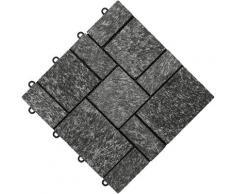florco Terrassenplatten stone, Klickfliesen schwarz Terrassenfliesen Terrassenböden Garten Balkon