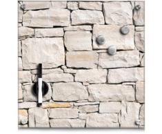 Zeller Present Magnettafel Stone, Memoboard, aus Glas, Stein Motiv braun Wanddekoration Deko Wohnaccessoires