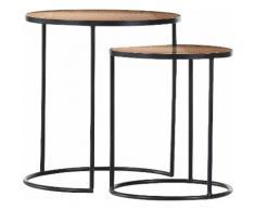 Gutmann Factory Satztisch 65926 (Set, 2 Stück) schwarz Couchtische rund oval Tische Tisch