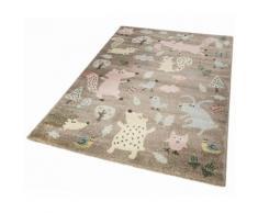 Sigikid Kinderteppich Forest, rechteckig, 13 mm Höhe, Wald Tiere Design, Kurzflor braun Kinder Kinderteppiche mit Motiv Teppiche