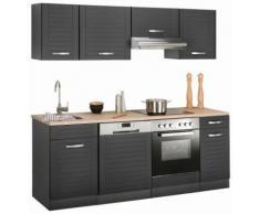 HELD MÖBEL Küchenzeile Falun, ohne E-Geräte, Breite 210 cm grau Küchenzeilen Geräte -blöcke Küchenmöbel
