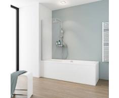 Schulte Badewannenaufsatz Komfort, BxH: 80 x 140 cm, aluminiumoptik grau Duschwände Duschen Bad Sanitär
