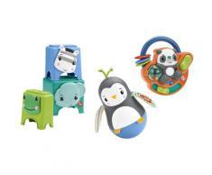 Fisher-Price Greifspielzeug Feinmotorik-Spielzeug Geschenkset, mit Musik bunt Kinder Greiflinge Baby Kleinkind
