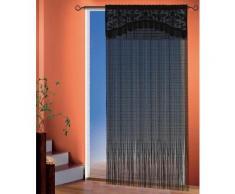 WILLKOMMEN ZUHAUSE by ALBANI GROUP Fadenvorhang Adele, mit Bordüre schwarz Wohnzimmergardinen Gardinen nach Räumen Vorhänge