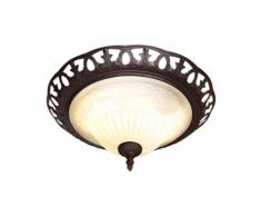 TRIO Leuchten Deckenleuchte Rustica, E27, Deckenlampe, Leuchtmittel tauschbar braun Deckenleuchten Lampen sofort lieferbar