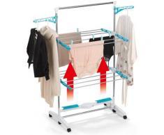 EASYmaxx Elektrischer Wäschetrockner 17W weiß Wäscheständer und Wäschespinnen Wäschepflege Haushaltswaren