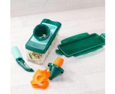 Genius Spiralschneider Julietti Plus, Kunststoff Edelstahl, (Set, 9-tlg.) farblos Nicer Dicer Kochen Backen Haushaltswaren Küchenschneider