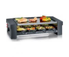 Severin Raclette RG 2687, 8 Raclettepfännchen, 1150 Watt schwarz Küchenkleingeräte Haushaltsgeräte
