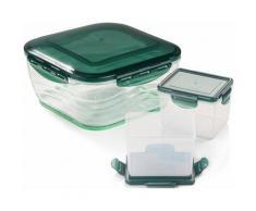 Genius Auffangbehälter (6-tlg.) farblos Aufbewahrung Küchenhelfer Haushaltswaren Lebensmittelaufbewahrungsbehälter