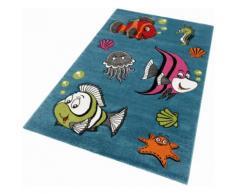 Kinderteppich, GERS, merinos, rechteckig, Höhe 13 mm, maschinell gewebt blau Kinder Bunte Kinderteppiche Teppiche