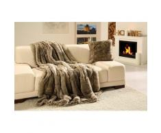 Wohndecke Wolf Felloptik, Gözze grau Kunstfaserdecken Decken Wohndecken