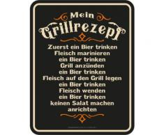 Rahmenlos Blechschild für den BBQ Grill-Fan bunt Metallschilder Bilder Bilderrahmen Wohnaccessoires Geschenkartikel