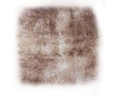 LUXOR living Kissenhülle Namika, (1 St.), Hülle für Dekokissen, Zierkissen, eckig, 40x40 cm, aus echtem Lammfell braun Kissenbezüge Kissen