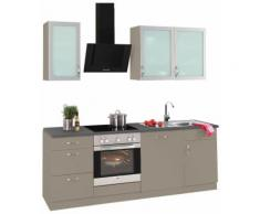 wiho Küchen Küchenzeile Peru EEK D grau Küchenzeilen mit Geräten -blöcke Küchenmöbel Arbeitsmöbel-Sets