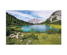 Vliestapete Paradise Lake Komar naturalistisch, bunt, bunt