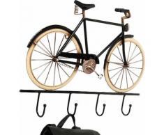 KARE Garderobenleiste City Bike Pole, schwarz, Neutral, schwarz