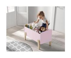 Vipack Spielzeugtruhe Kiddy, MDF-Oberfläche rosa Kinder Kindermöbel Möbel sofort lieferbar