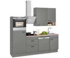 OPTIFIT Küchenzeile ohne E-Geräte »Elga«, Breite 230 cm, grau, basaltgrau/basaltgrau
