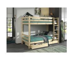Vipack Etagenbett Pino, wahlweise mit Bettschublade beige Kinder Kindermöbel Möbel sofort lieferbar