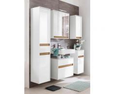 trendteam Waschbeckenunterschrank Sol mit Wechselblende, weiß, weiß/weiß Hochglanz