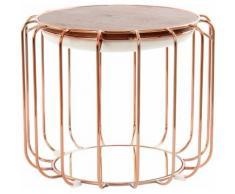 Kayoom Beistelltisch / Pouf Comfortable 110, als und Hocker nutzbar beige Beistelltische Tische