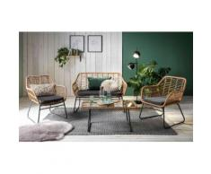 INOSIGN Sitzgruppe Yaro, für Indoor, Terrasse, Wintergarten oder Garten geeignet grau Sofas Couches Möbel sofort lieferbar