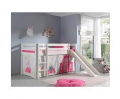 Vipack Hochbett Pino, wahlweise mit Rutsche weiß Kinder Hochbetten Kinderbetten Betten