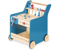 Pinolino Werkbank Kalle, blau, mit 4 Rollen blau Kinder Werkbänke Werkstatteinrichtung Werkzeug Maschinen