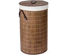 WENKO Wäschesortierer Bamboo 55l beige Wäschekörbe Wäschetruhen Badmöbel