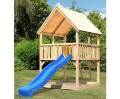ABUKI Spielturm Lenie 2, BxTxH: 200x200x345 cm beige Kinder Outdoor-Spielzeug
